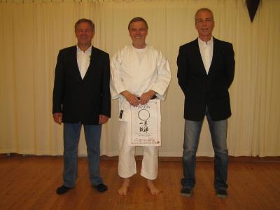 Das Foto zeigt von links Bernhard Milner, Dr. Wolfram Schneider und Detlef Herbst.